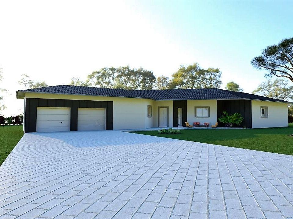 Grande maison architecturale plain-pied 190 m²